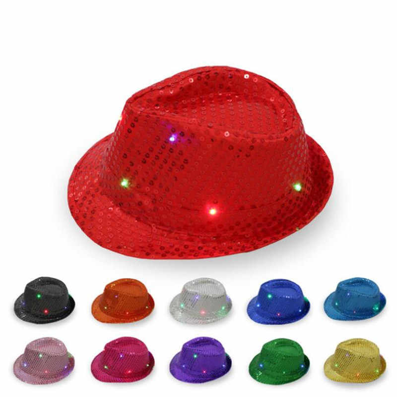 Adult Unisex Shining Party Rain Hat Hen Party Fancy Dress Costume Cap in 7 color