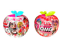 Nowy Lol niespodzianka lalka OMG jabłko piłka plastikowa zabawka dla dzieci piłka pudełko z niespodzianką piłka Diy Lol lalki dla dzieci zabawki dla dziewczynek #8230 tanie tanio L O L SURPRISE! cartoon Dıy Toy Edukacyjne Mini Model Film i telewizja Fashion doll Interaktywny lalki 10cm Moda 3 lat