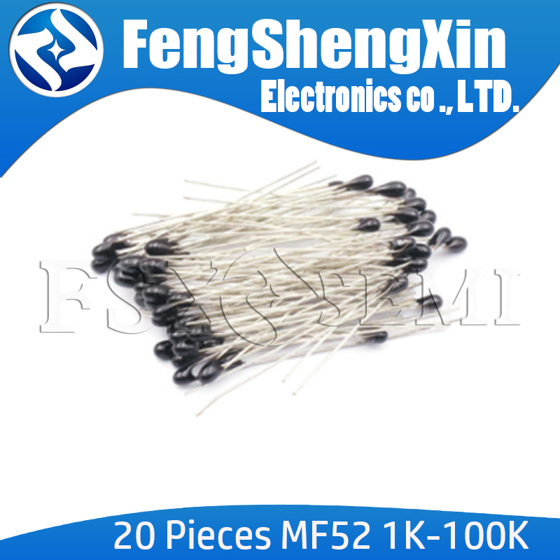 20pcs/lot New MF52AT MF52 B 3950 3270K 3470K NTC Thermistor Thermal Resistor 5% 1K 2K 2.2K 3K 4.7K 5K 10K 20K 47K 50K 100K