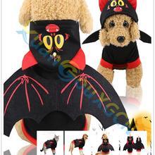 Sweater Pet-Clothing Crossdress Halloween Coat Hoodie Winter Small Warm Jersey Pumpkin