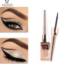 Not Blooming Gold Tube Eyeliner Waterproof Easy to Dry Durable 3D Big Eyes Black Fine Head Beginner Makeup