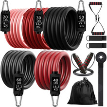200lb Fitness Booty Resistance Elastic Band Workout for Training Home Exercise Sport Gym Dumbbell Harness Set Expander Equipment
