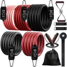 Bande élastique de résistance au butin, 200lb, pour l'entraînement physique à domicile, ensemble de harnais d'haltères