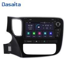 """Dasaita 8 """"android 9.0 carro dvd player gps navi para mitsubishi outlander 2014 2015 com 2g + 16g quad core rádio do carro multimídia"""