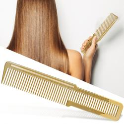 Eco-friendly Hair Comb Professional Non-slip Handle Hair Comb Gold Portable Hairdressing Home Salon Hair Cutting Styling Tool
