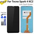 Ремонтный экран 6,52 дюйма для Tecno Spark 4 KC2, ЖК-дисплей + кодирующий преобразователь сенсорного экрана в сборе, дигитайзер экрана в сборе для Tecno ...