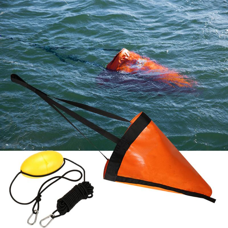 24 '/32 '/42 ' Sea Drogue Anchor Float Marine Kayak Drift Anchor 30ft Rowing Sock Brake Boat Fishing Canoe