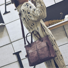 Bag Portable Tote-Bag Street-City Messenger Retro Zipper Multifunctional Walking Fashion