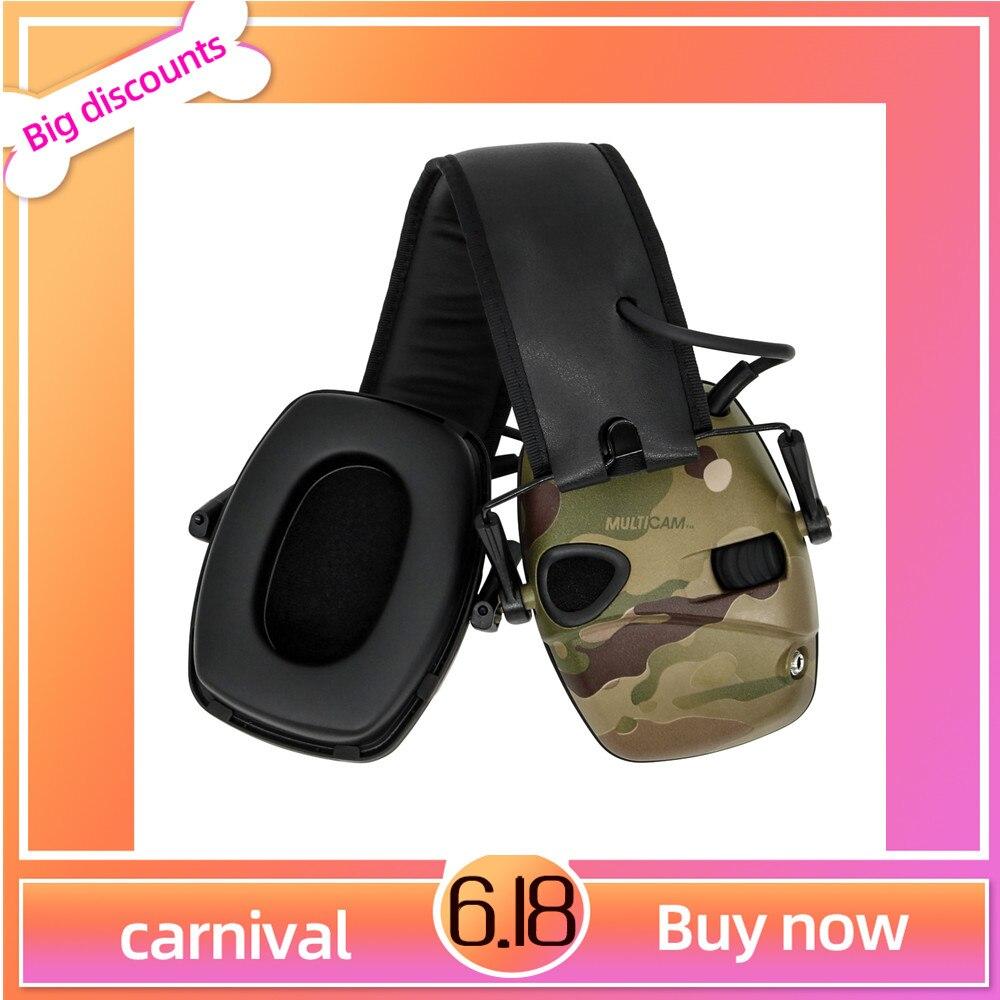 Tactical Camouflage MultiCam Electronic Shooting Earmuffs Enhance Anti-Noise Impact Sound Protection Headphones Tactical Earmuff