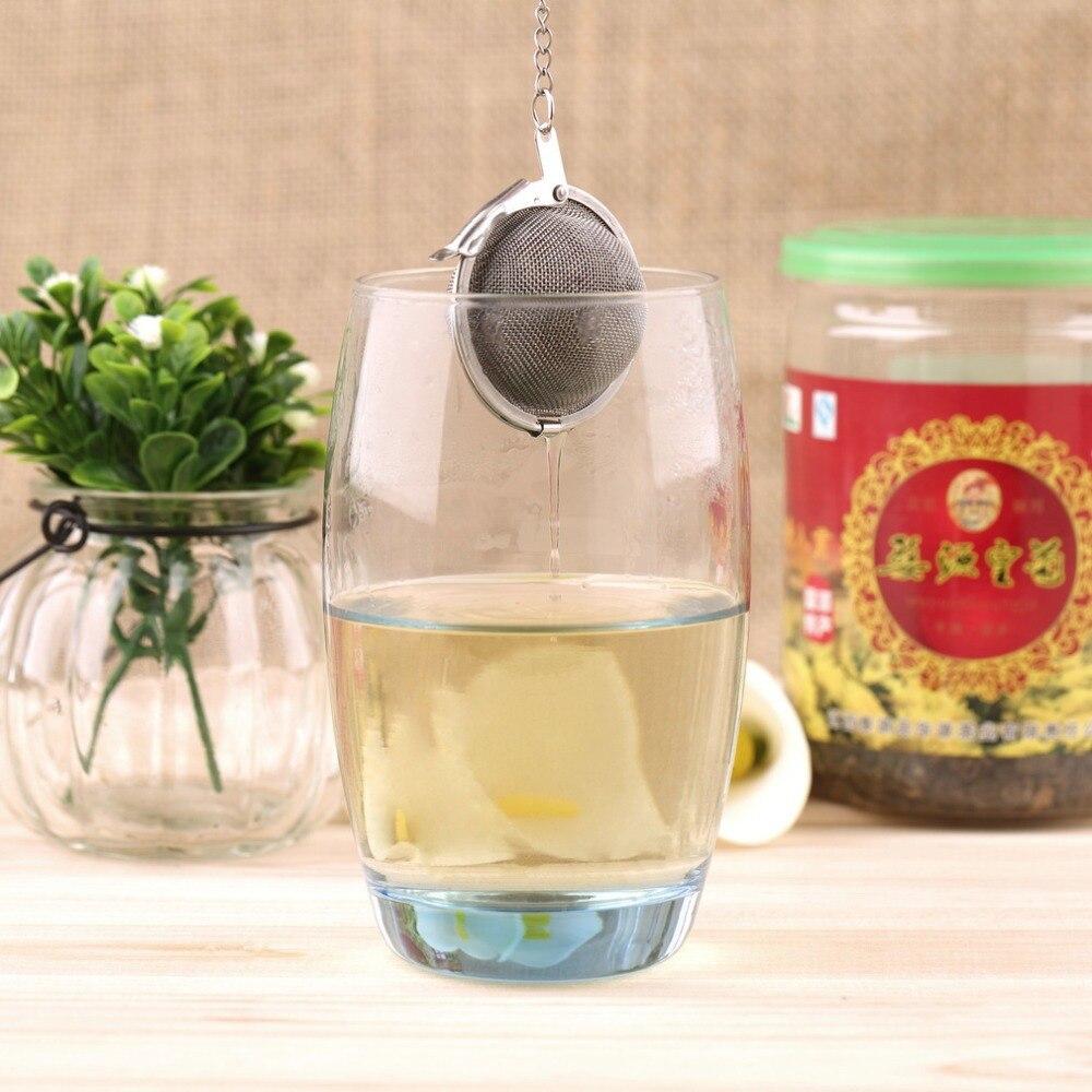 2018 New Arrival1pcs Stainless Steel Sphere Locking Spice Tea Ball Strainer Mesh Infuser Tea Strainer Filter Infusor  Gift