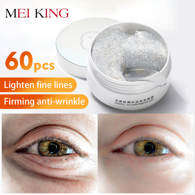 MEIKING Eye Mask Collagen Remover Dark Circles Eyes Patches Hyaluronic Acid Nicotinamide Anti Puffiness Anti Aging Eyes Care60pc