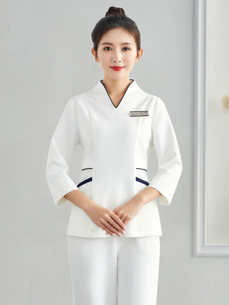 Beautician Work Clothes Female Autumn Winter Health Salon Technician Clothing Beauty Salon High-end Skin Management Clothing