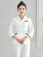 Косметолог рабочая одежда женский осень зима здоровье салон техник одежда красоты высокого класса управления кожи