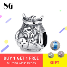100% 925 Sterling Silver brave Armor warrior beads soldier men charm fit Original Pandora Bracelet For Women Jewelry Gifts