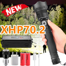 2020 Brightest Aliexpress11.11 LED Flashlight XLamp XHP70.2 USB Zoomable 3 modes Torch 26650 Rechargeable Battery drop shipping
