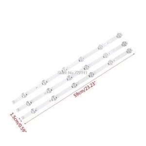 """Image 5 - 3 pièces/ensemble LED rétro éclairage bande 6 lampe barre lumineuse pour Lg 32 """"TV 32LB5800 UG 32LB5610 vente en gros et livraison directe"""