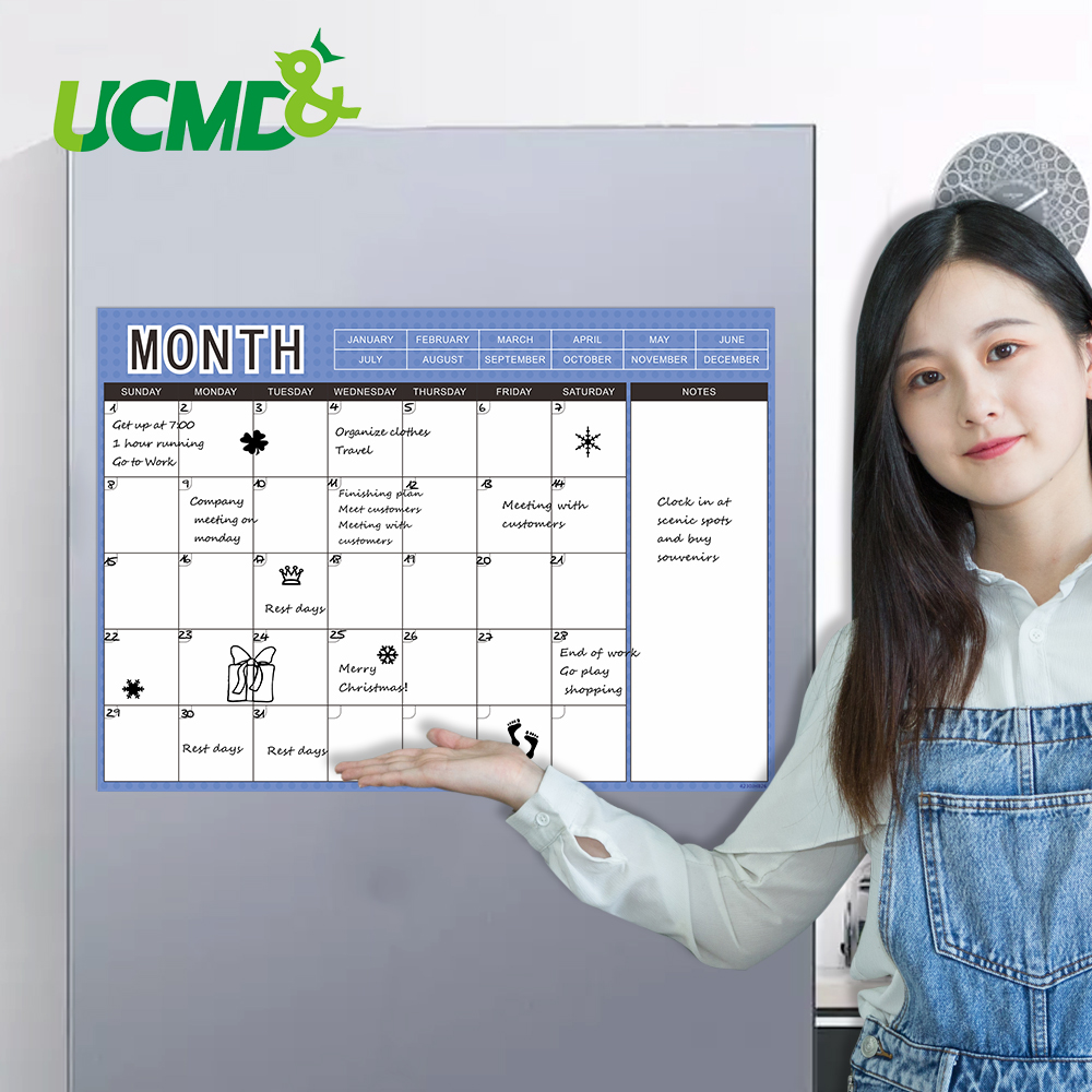 Dry Wipe Magnetic Weekly Planner Whiteboard Fridge Magnet Calendar 42x30cm Flexible Work Study Chore Message Bulletin Memo Board