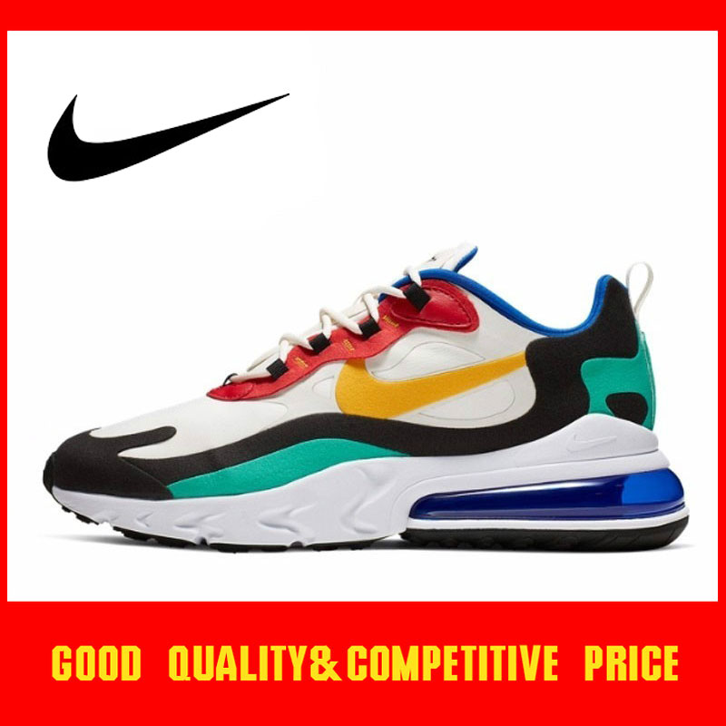 Original Authentic Nike Air Max 270 React Men's Running Shoes Trend Outdoor Sports Shoes 2019 New Training Shoes AO4971 002