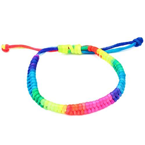 Multicolor Thread Braided Bracelet Rainbow Color Lucky Charm Men Women Bracelets Handmade Woven Amulet Chain Rope Buddha Jewelry