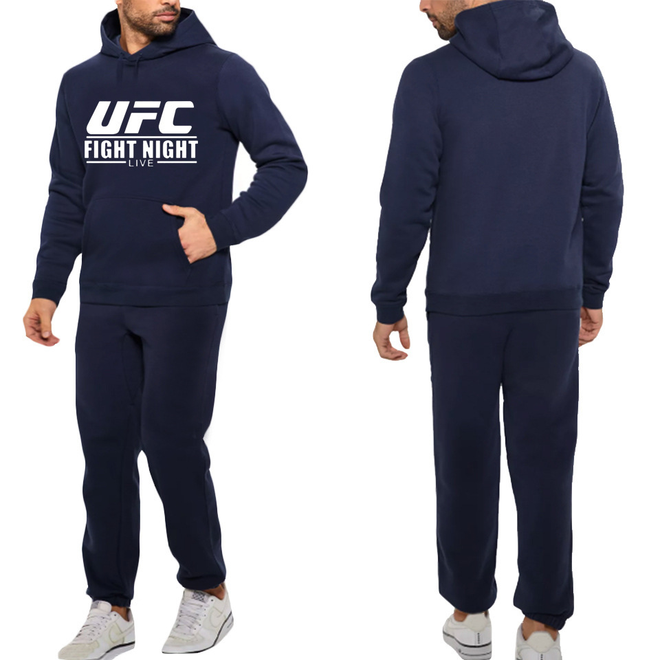 Casual Hoodie Suit Fighting Ufc Plus Velvet Sports Pants