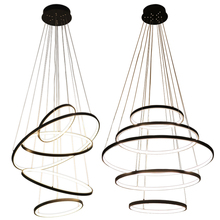 Modern Chandelier Living Room lustres de a Decoration rings Pendants and Chandeliers Home Lighting Indoor Lamp pendant lamp
