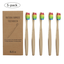 5pcs Soft Bristles Children Bamboo Toothbrushes Eco Friendly Oral Care Travel Tooth Brush