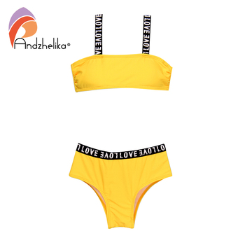 Andzhelika strój kąpielowy dla dzieci dziewczyny sport Bikini bandaż strój kąpielowy dla dzieci Bikini solidny patchwork stroje kąpielowe dla dziewczyn Kid strój kąpielowy tanie i dobre opinie Pasuje prawda na wymiar weź swój normalny rozmiar Stałe AK36027 Niski stan spandex Girls Children 30 32 34 36 38 Bikinis Set