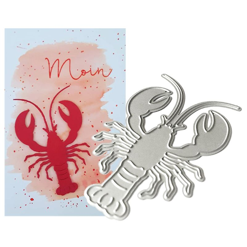 Lobster Metal Cutting Dies Stencil Scrapbooking DIY Album Stamp Paper Card Embossing Decor Craft New Dies For 2020