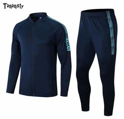 2019 New Tracksuit Sportsman wear Training Set Adult Child Football Sets Warm Jackets and Pants Sports Suits  Long Sleeve