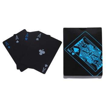 Wodoodporne karty do gry Poker plastikowe pcv Poker zestaw do gry w pokera czarne karty do gry wodoodporne karty prezent trwała jakość pokera tanie i dobre opinie CN (pochodzenie) 14 lat 0-30 minut Primary playing cards Normalne Papier Karta UNO pokrywa karty Plastic Playing Poker