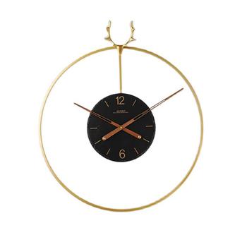 Nordic hiszpania luksusowy zegar ścienny nowoczesny Design złoty cichy ścienny zegarki Home Decor głowa jelenia zegary salon dekoracji wnętrz tanie i dobre opinie SAFEBET CN (pochodzenie) Europejska Wall decoration wall clock 3d clock circular Bambusowe i drewniane 69cm Jedna twarz