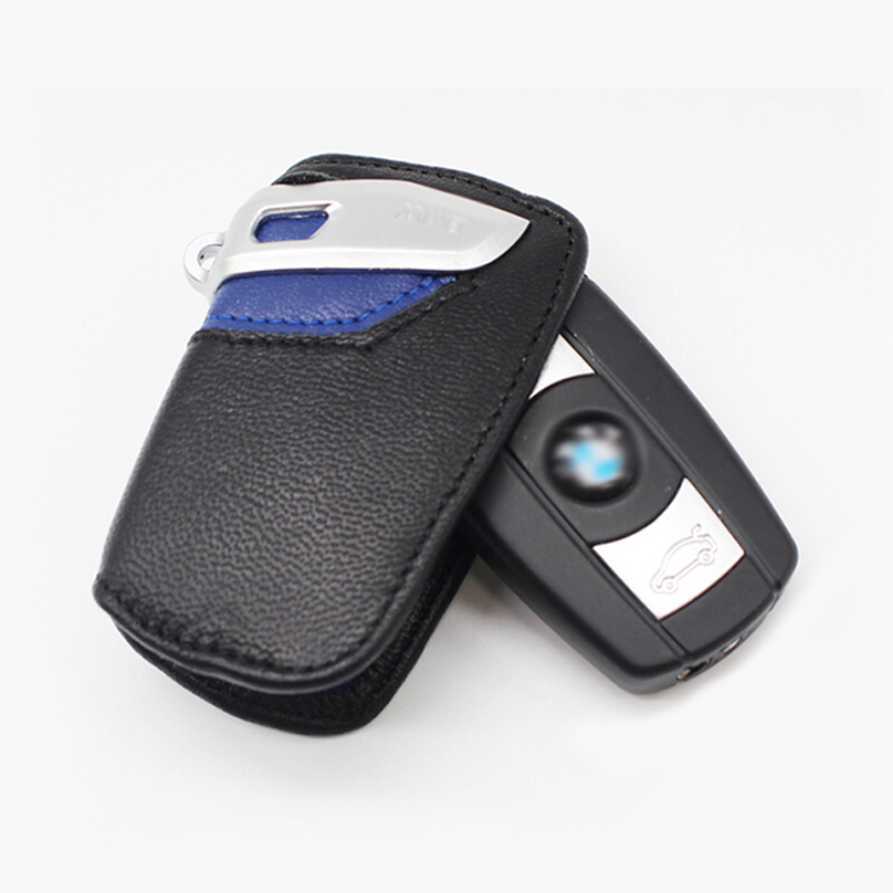Genuine Leather Car Key Case for BMW E90 E60 E70 E87 3 5 6 Series M3 M5 X1 X5 X6 Z4 Key Cover Remote Controller Key Holder