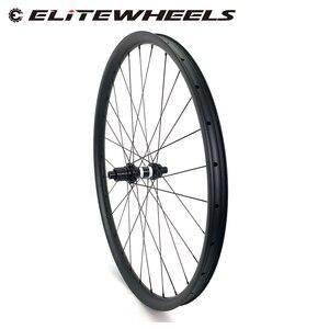 Image 1 - הרי אופני אסימטרית hookless MTB זוג גלגלי פחמן 29er XC/AM 36mm רוחב 24mm עומק עם mtb DT350S רכזת