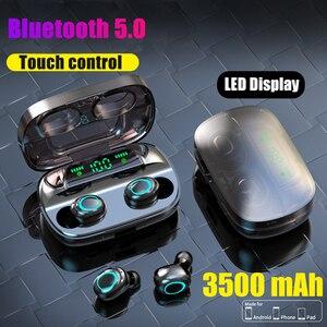 Image 1 - Auriculares Tws inalámbricos por Bluetooth, Mini auriculares deportivos para correr con micrófono y Control táctil, PK F9