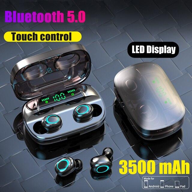 Auriculares Tws inalámbricos por Bluetooth, Mini auriculares deportivos para correr con micrófono y Control táctil, PK F9