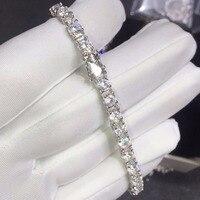 TB258 Luxury 6 carat sona Simulated Gem bracelets,925 sterling silver bracelets,charm bracelets tennis bracelet