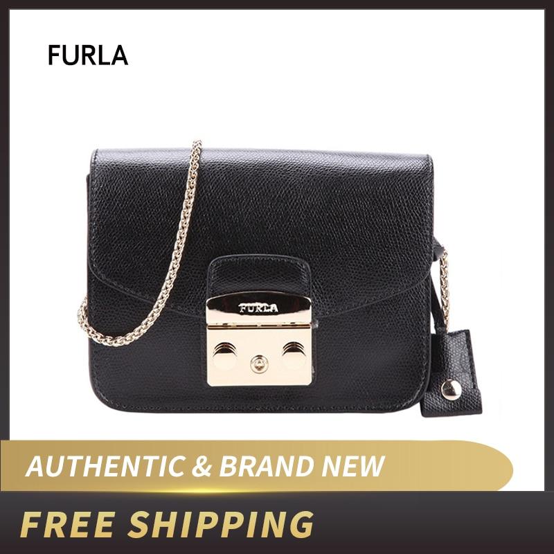 Authentic Original & Brand New FURLA  Metropolis BGZ7 Black Crossbody Women's Bag
