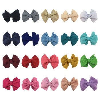 20pcs/lot 4.5 Seersucker Waffle Hair Bow Without Clips For Kid Headband Fabric Barerres Hair Clip DIY Girls Headwear image