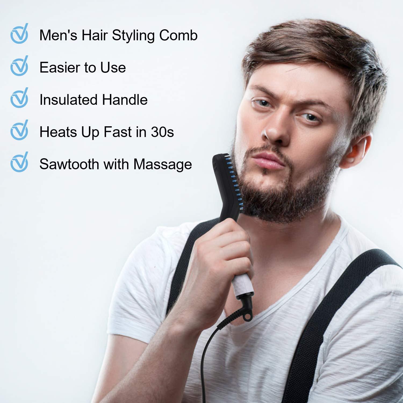 Alisador de cabelo barba cerâmica elétrica alisador