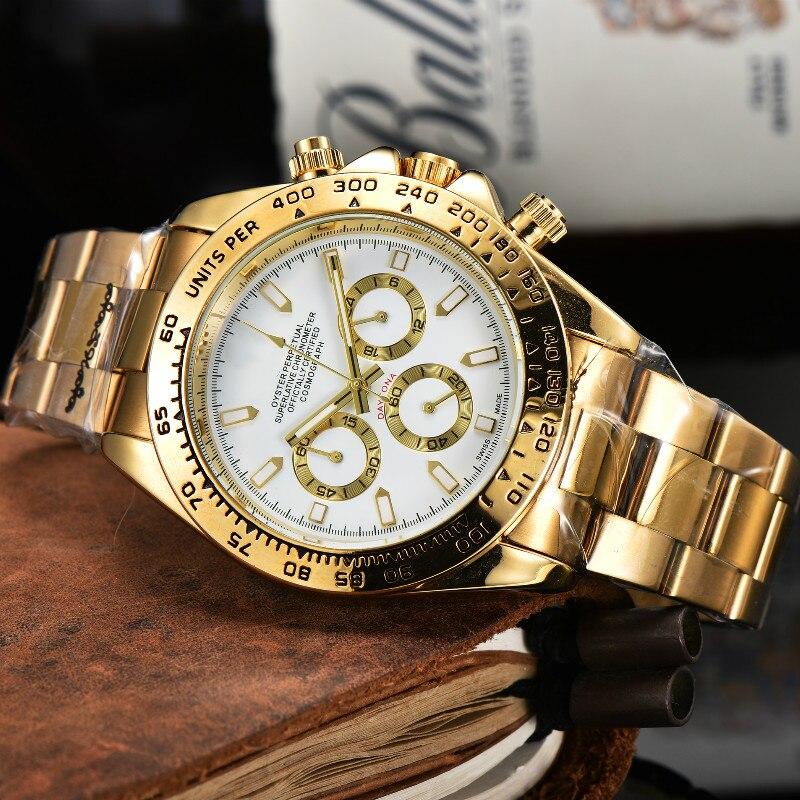 2021 классические роскошные Брендовые мужские часы, повседневные Модные крутые деловые кварцевые наручные часы из нержавеющей стали, часы кв...