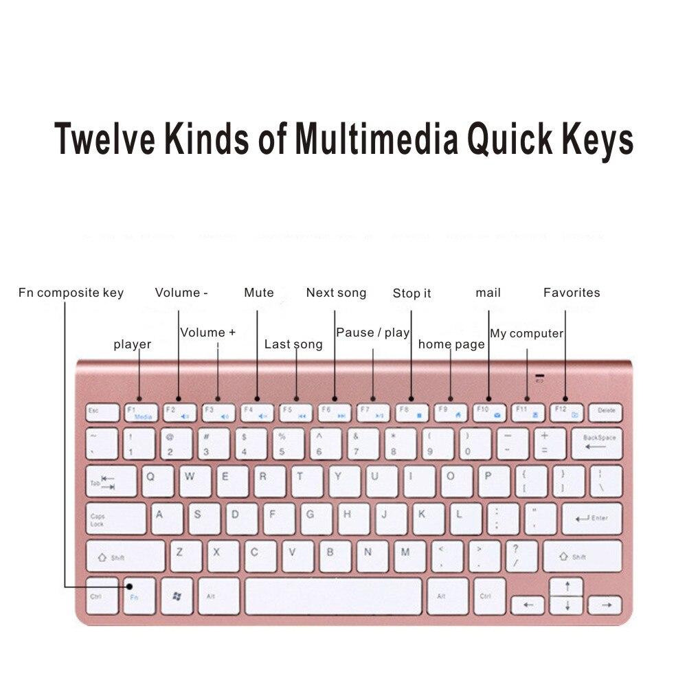 Mini Wireless Keyboard And Mouse Combo Kit Keypad Ultra-Slim Portable Multi-media Mouse Keyboard For Laptop Mac Desktop PC TV-4