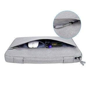 Image 3 - Ударопрочная сумка для ноутбука 13 14 15,6 дюйма, рукав для ноутбука MacBook Air Pro 13 Matebook 14, женская и мужская однотонная сумка для ноутбука