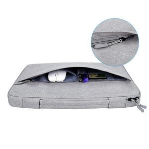 Image 3 - Shockproof Laptop Bag 13 14 15.6 inch Laptop Sleeve for MacBook Air Pro 13 Matebook 14 Sleeve Women Men Solid Laptop Handbag