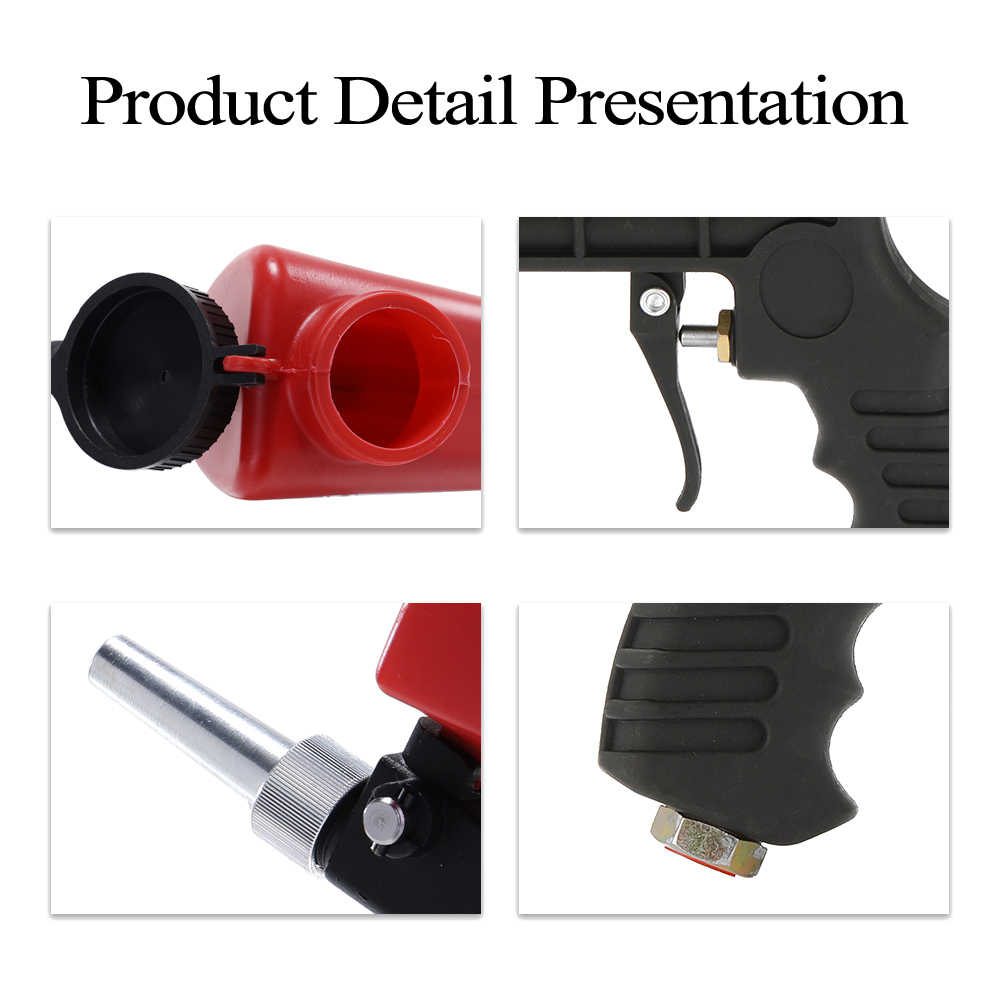 Portable airbrush spray gun Home DIY Mini Blasting Device 90psi Sandblaster Antirust Adjustable Sandblasting Machine Sandblaster