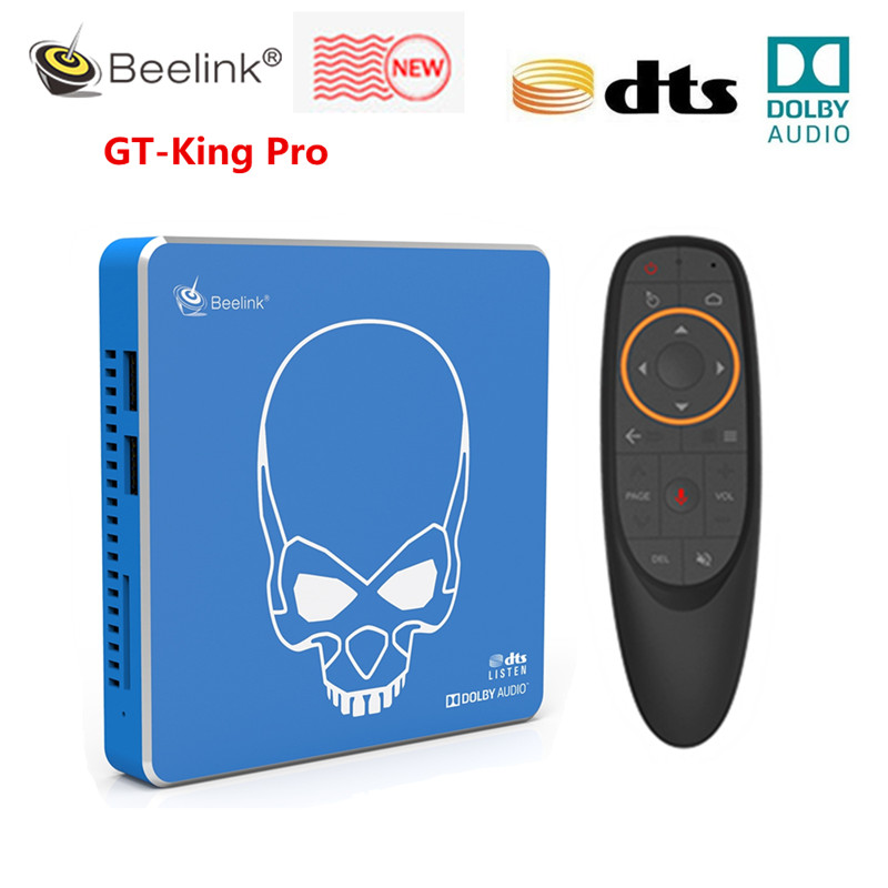 Beelink GT-King Pro Hi-Fi Lossless Sound TV Box with Dolby Audio Dts Listen Amlogic S922X-H Android 9.0 4GB 64GB