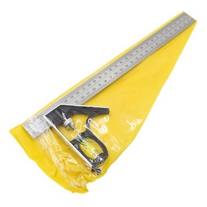 300Mm Adjustable Combination Square Angle Ruler 45 / 90 Degree With Bubble Level Multifunctional Gauge Measuring Tools Hot