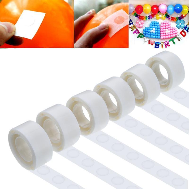 100 шт. клей для воздушных шаров, клей для украшения свадьбы, дня рождения, вечеринки, фиксированный зажим, Шариковая точка, супер липкая точка...