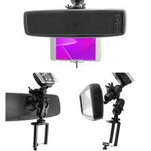 Растягивающийся Автомобильный Автоматический кронштейн зеркало заднего вида устойчивые к царапинам подставки держатель мобильного телефона Регулируемый вращение на 360 градусов стабильный