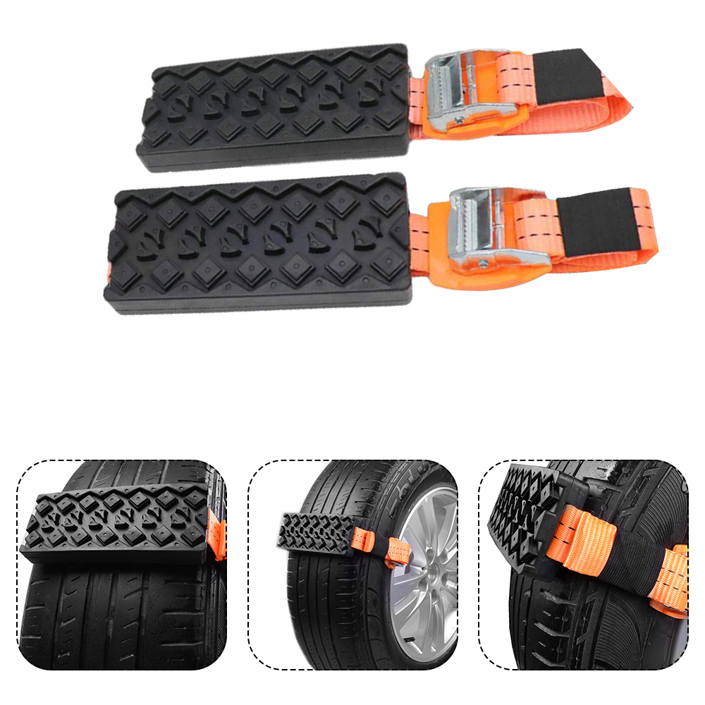 2Pcs Tire Wheel Chain Anti-slip Emergency Snow Chains For Ice/Snow/Mud/Sand Road Safe Driving Truck SUV Auto Car Accessories