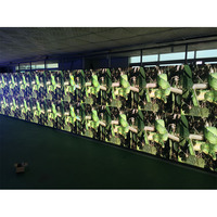 IP65 500*500mm 500*1000mm P3.91P4.81 RGB screen full color SMD outdoor waterproof hanging on video LED Display Cabinet panel